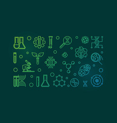 biotech modern colorful outline banner vector image