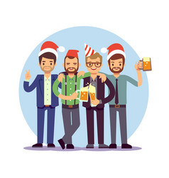 businessmen celebrate new year and christmas vector image