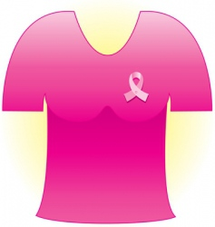 cancer ribbon shirt vector image