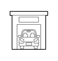 car inside garage repair parking icon image vector image