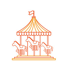 carnival carousel isolated icon vector image