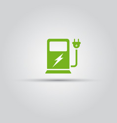 charging station for electric vehicles icon vector image
