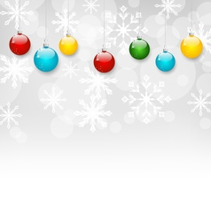 Christmas snowflakes background with set colorful vector