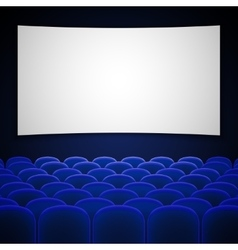 Cinema movie theatre interior vector image