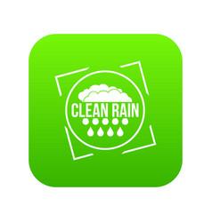 clean rain icon green vector image