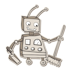 Cleaning robot vector