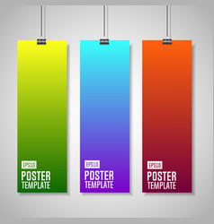 Colorful paper with clips vector