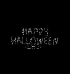 congratulation happy halloween inscription vector image