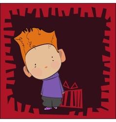 Cute boy vector image
