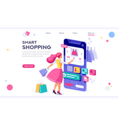 e-commerce buyer concept vector image