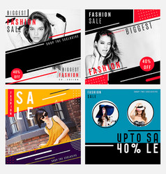 fashion sale background vector image