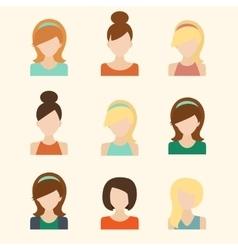 Girls Icons Set vector
