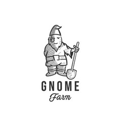 hand drawing gnome design vector image