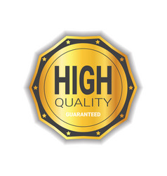 high quality sticker golden medal icon guaranteed vector image