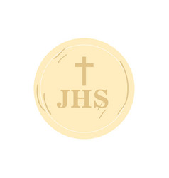 isolated christian hostia vector image