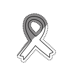 Isolated ribbon peace vector image
