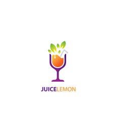 juice lemon logo vector image