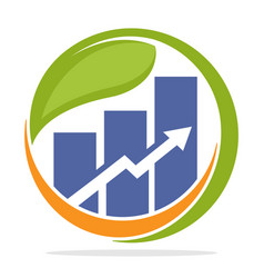 Logo icon for business finance investment vector