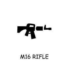 M16 rifle flat icon vector