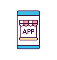 Mobile app store rgb color icon vector