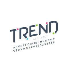 modern font design trendy alphabet letters and vector image