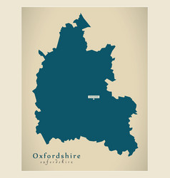 Modern map - oxfordshire county england uk vector