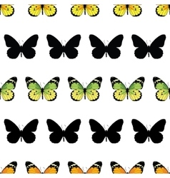 Monarch Butterfly Stripes Seamless Pattern vector