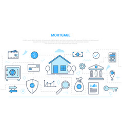 Mortgage concept with icon set collection like vector
