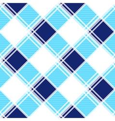 Navy Blue White Diamond Chessboard Background vector image