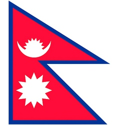 nepalese flag vector image