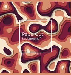 non-seamless futuristic papercut print vector image
