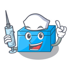 nurse cartoon tissue box in the restaurant vector image