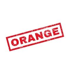 Orange Rubber Stamp vector