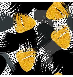 Paint strokes seamless pattern vector