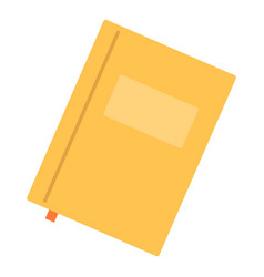 Paper notebook icon flat style vector