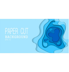 papercut many layers paper 3d color background vector image