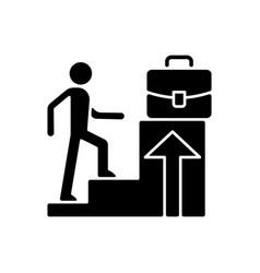 Promotion black glyph icon vector