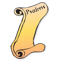 Psalms scroll vector