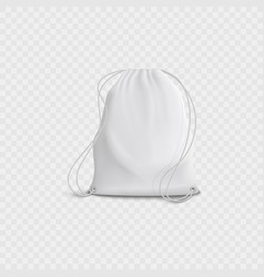 realistic 3d white blank bag and backpack with vector image