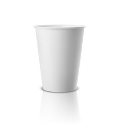 realistic 3d white paper disposable cup vector image