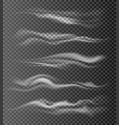 Realistic air flow waves vector