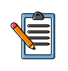 Report table and pencil icon vector