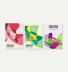 retro design templates for brochures covers vector image