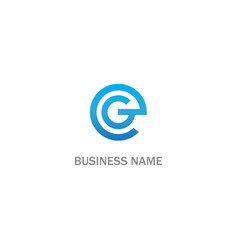 round line g initial company logo vector image
