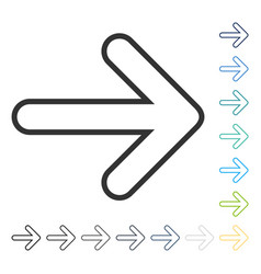 Rounded arrow right icon vector