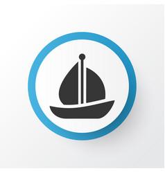 sail ship icon symbol premium quality isolated vector image