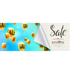 sale discount 30 percent off banner with bended vector image