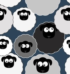 Seamless pattern with cute sheep Farm animals vector