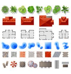 set landscape design elements vector image