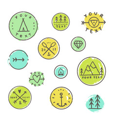 Set of camping badges vector
